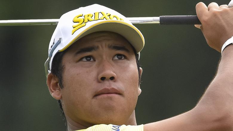Hideki Matsuyama golfing in 2017