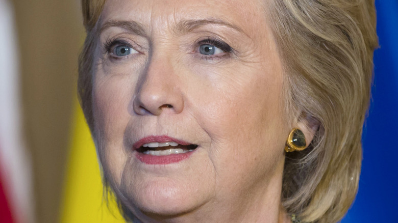 Hillary Clinton with a neutral expression