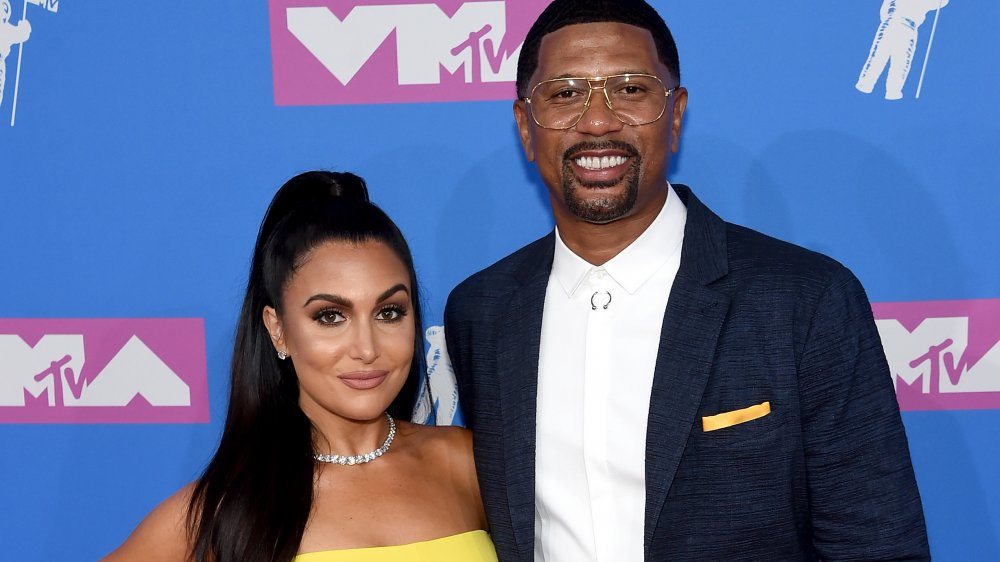 Molly Qerim and Jalen Rose attend the 2018 MTV Video Music Awards