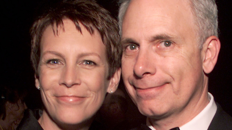 Jamie Lee Curtis and Christopher Guest at Comedy Central party