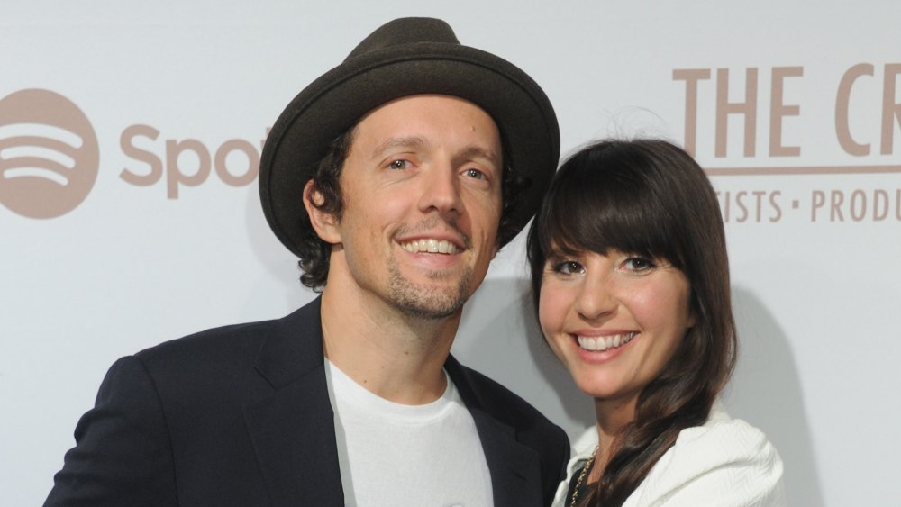Singer Jason Mraz and wife Christina Carano arrive at The Creators Party Presented by Spotify, Cicada, Los Angeles