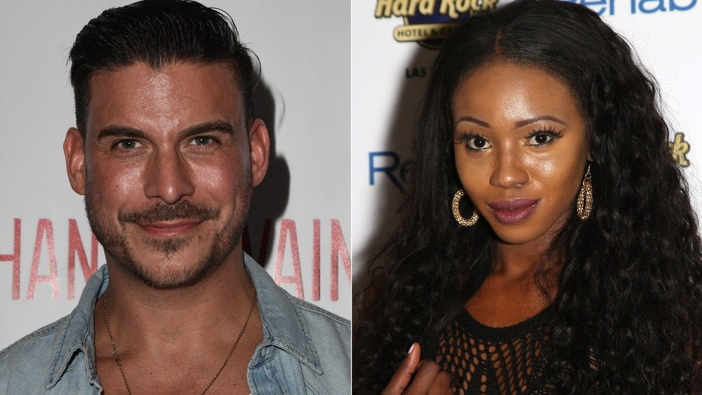 Jax Taylor and Faith Stowers smiling