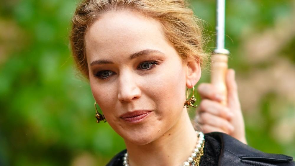 Jennifer Lawrence attending Paris Fashion Week