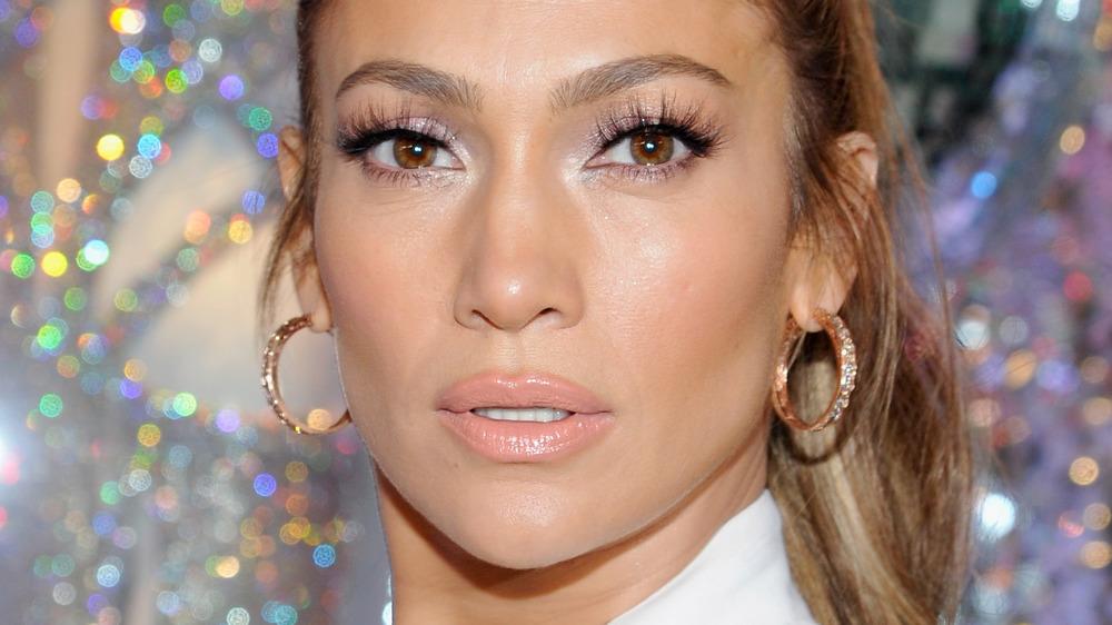 Jennifer Lopez strikes a pose