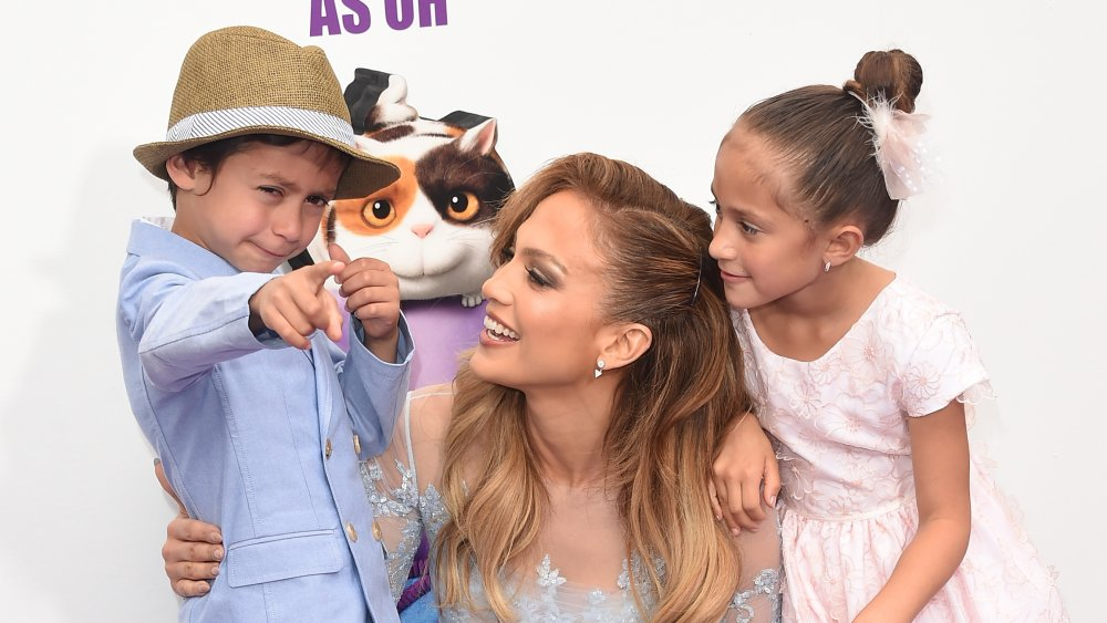 Jennifer Lopez and her kids Max and Emme