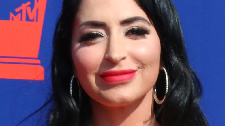 Angelina Pivarnick smiling on the red carpet
