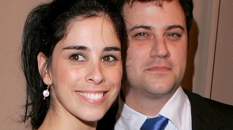 Sarah Silverman and Jimmy Kimmel smiling