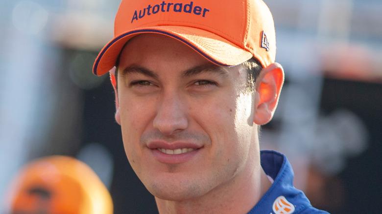 Joey Logano on the race track