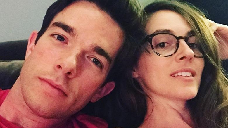 John Mulaney and Annamarie Tendler selfie