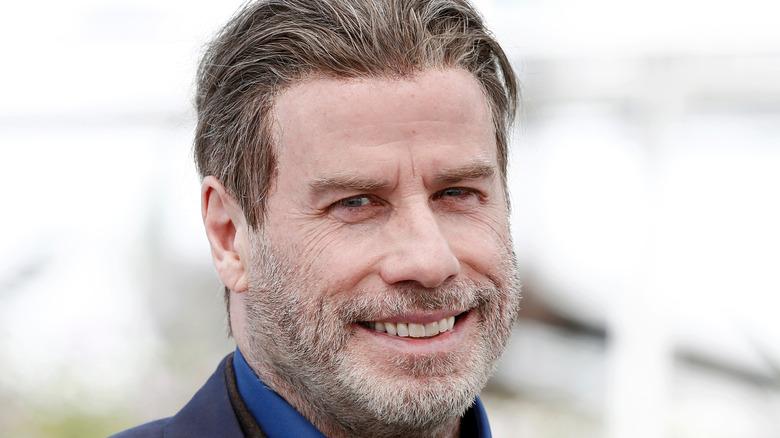 John Travolta in a blue suit
