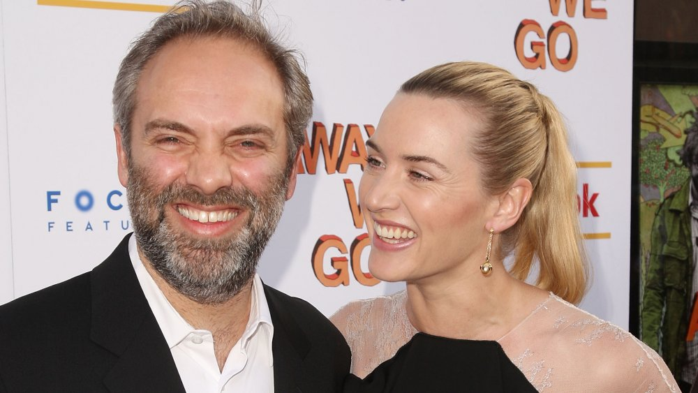 Director Sam Mendes and actress Kate Winslet