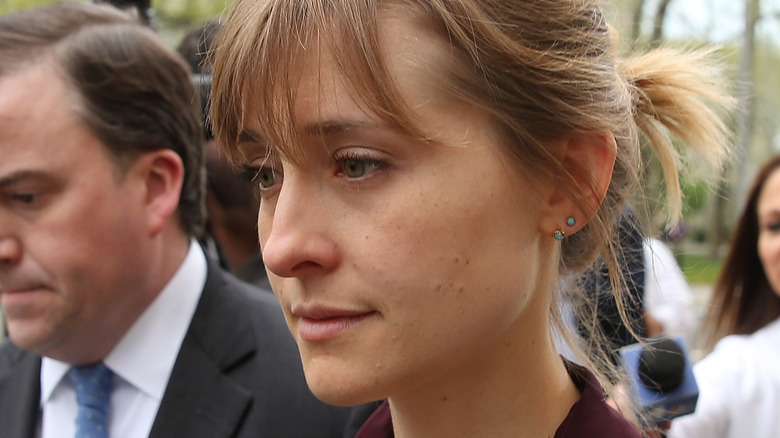 Allison Mack after her bail release