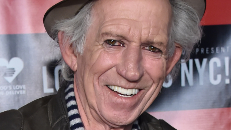 Keith Richards poses in a hat.
