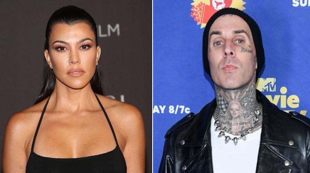 Kourtney Kardashian and Travis Barker side-by-side
