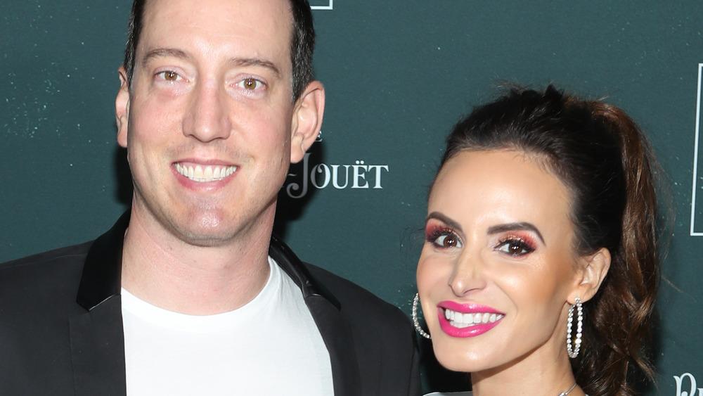 Kyle Busch and his wife Samantha Busch smiling