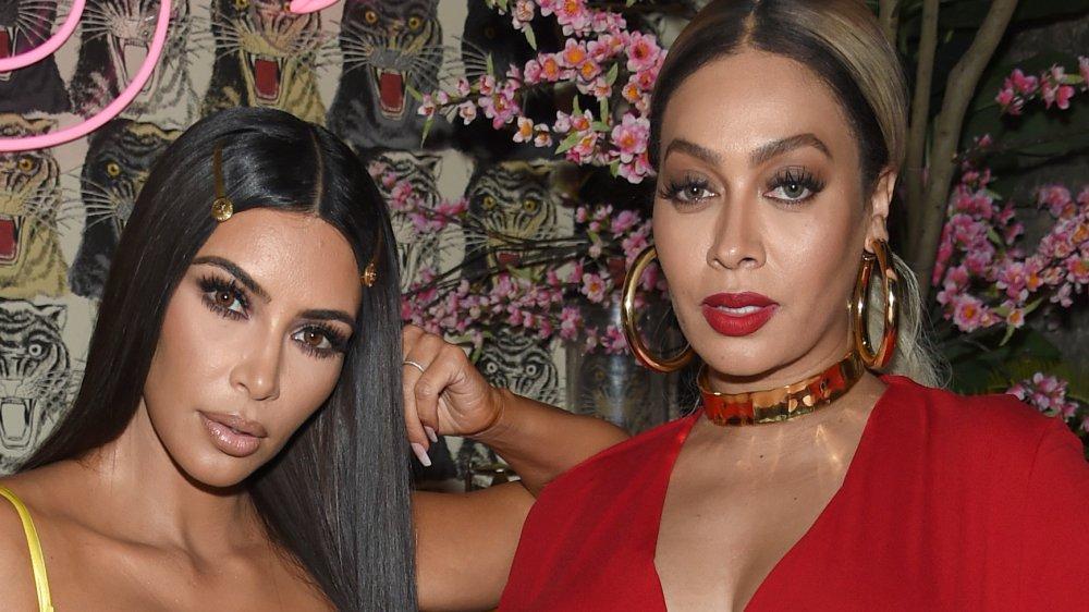 Kim Kardashian and La La Anthony