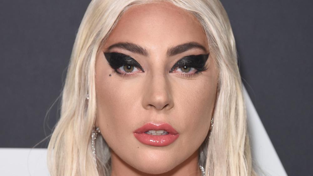 Lady Gaga staring at camera