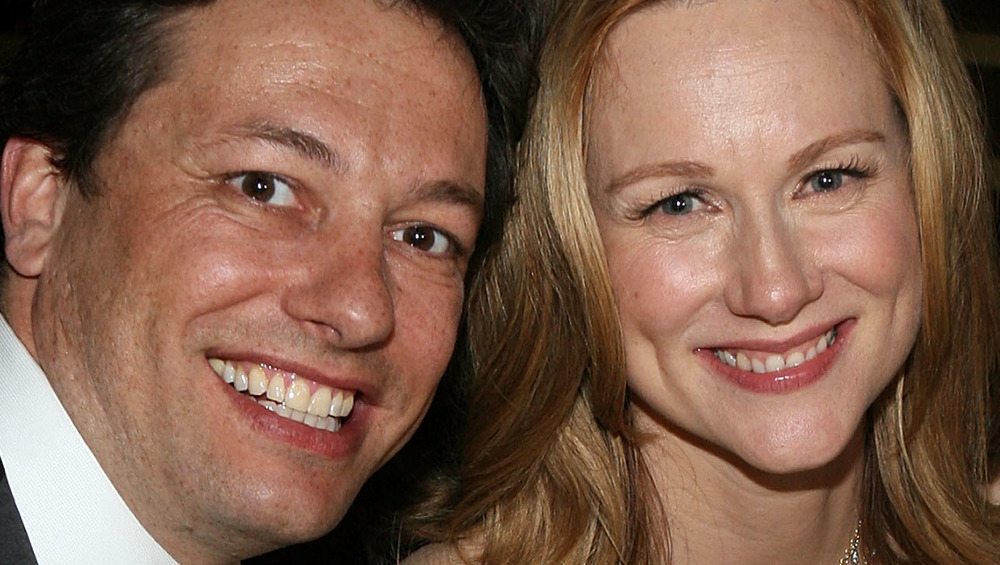 Laura Linney and Marc Schauer smiling