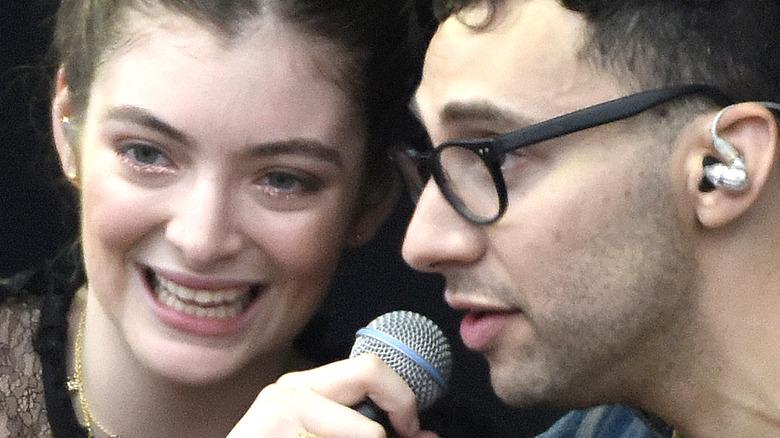 Lorde and Jack Antonoff performing