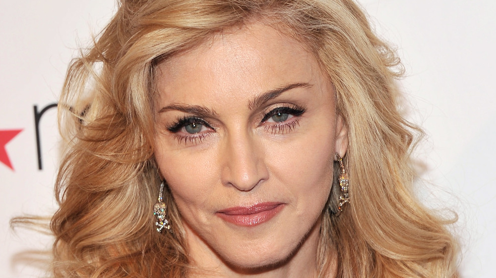 Madonna smiling a little