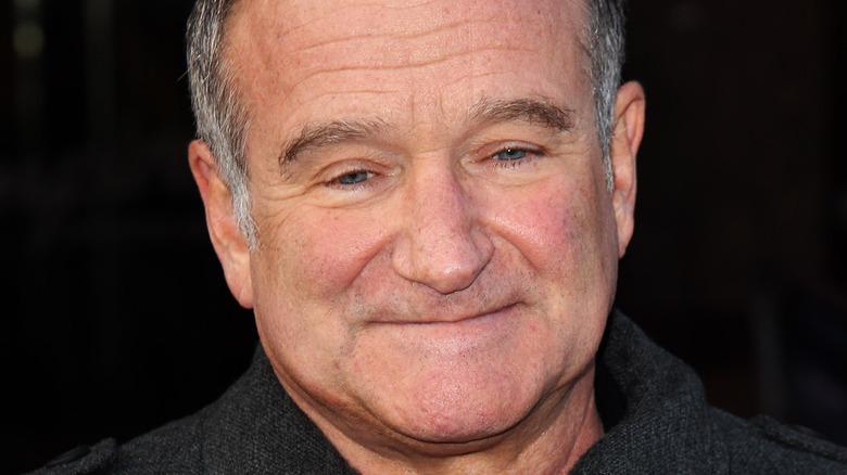 Robin Williams smiling in 2011.