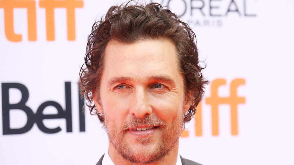 Matthew McConaughey on a red carpet
