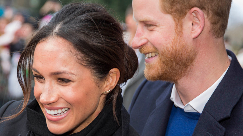 Meghan Markle and Prince Harry at event