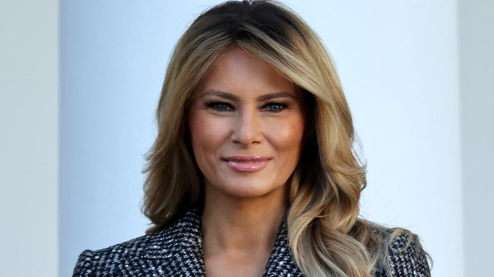 Melania Trump smiling at camera