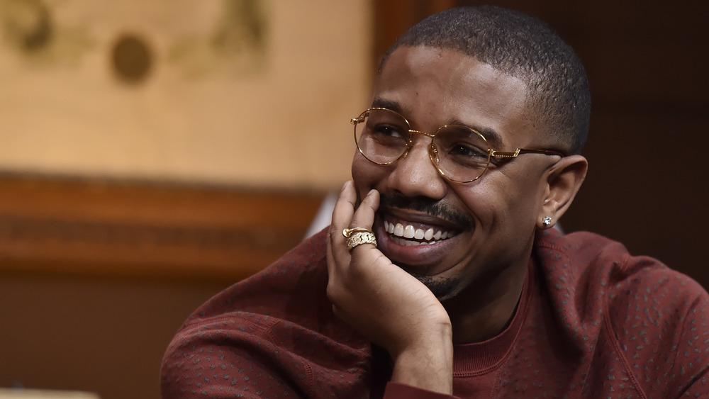 Michael B. Jordan in glasses