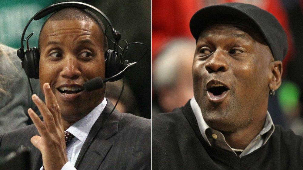 Reggie Miller and Michael Jordan