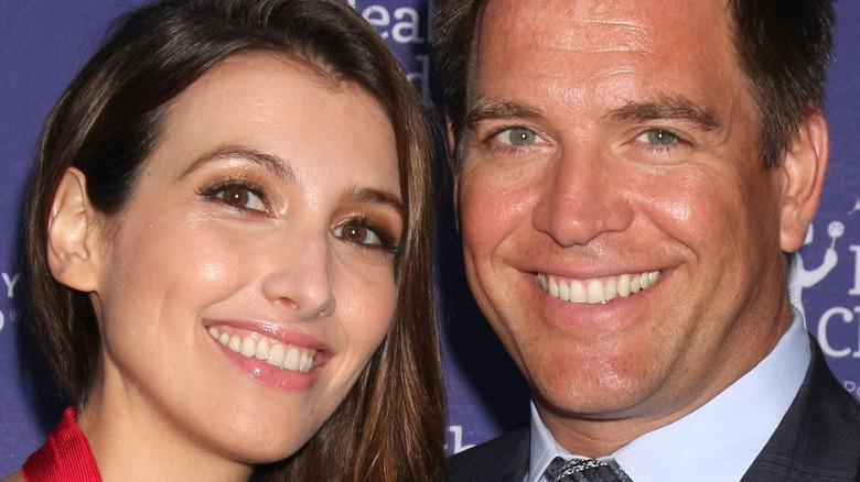 Bojana Jankovic and Michael Weatherly smiling