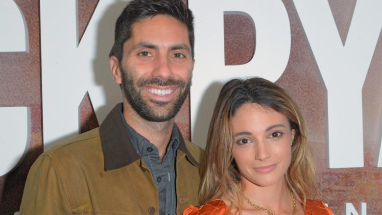 Nev Schulman and Laura Perlongo attend the Season Two Premiere of Tom Clancy's Jack Ryan