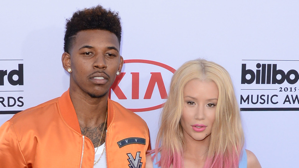Nick Young and Iggy Azalea on the red carpet
