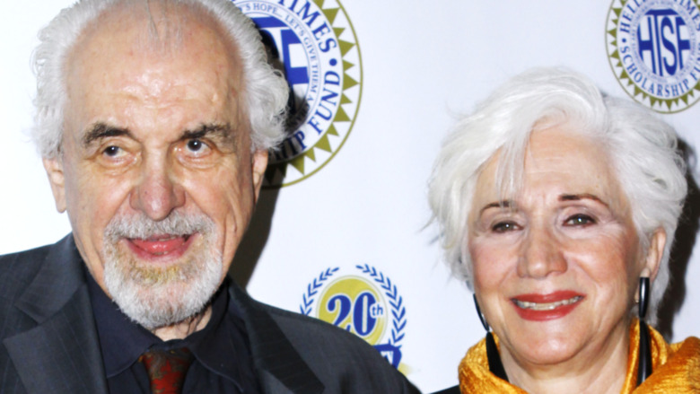 Louis Zorich and Olympia Dukakis smiling