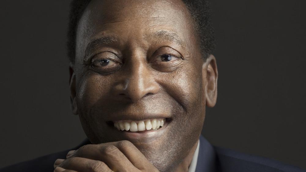 Pelé posing for the camera