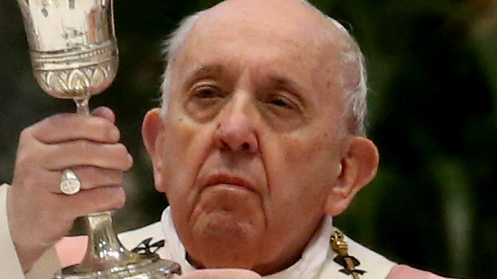 Pope Francis gives mass
