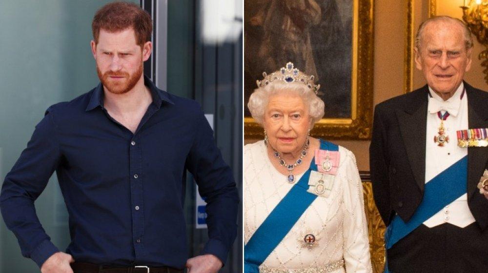 Prince Harry, Queen Elizabeth, Prince Philip