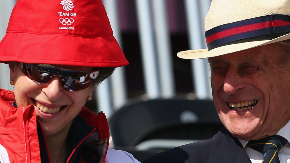 Prince Anne and Prince Philip 2012 Olympics