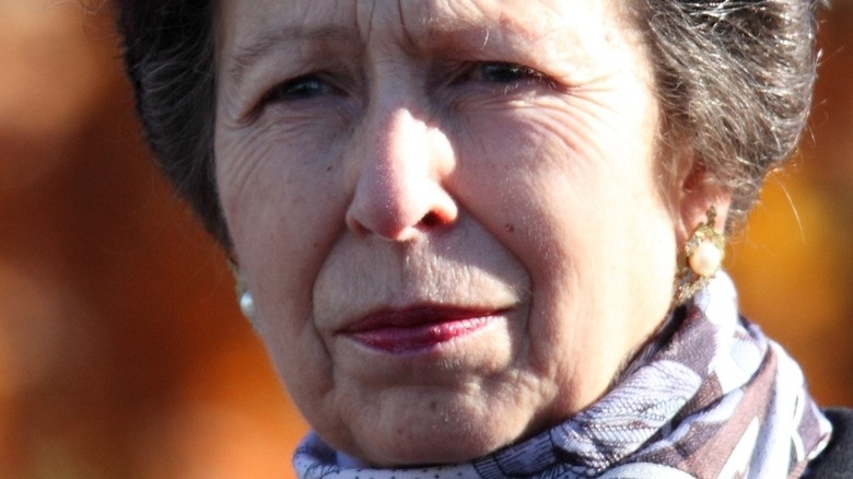 Princess Anne squinting