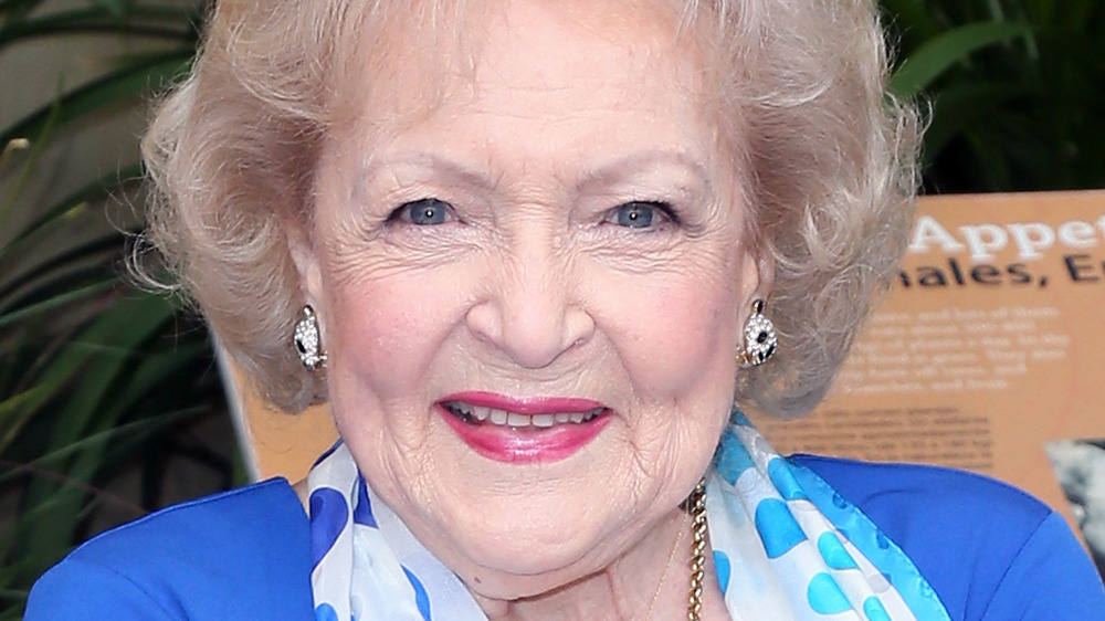 Betty White posing at an event