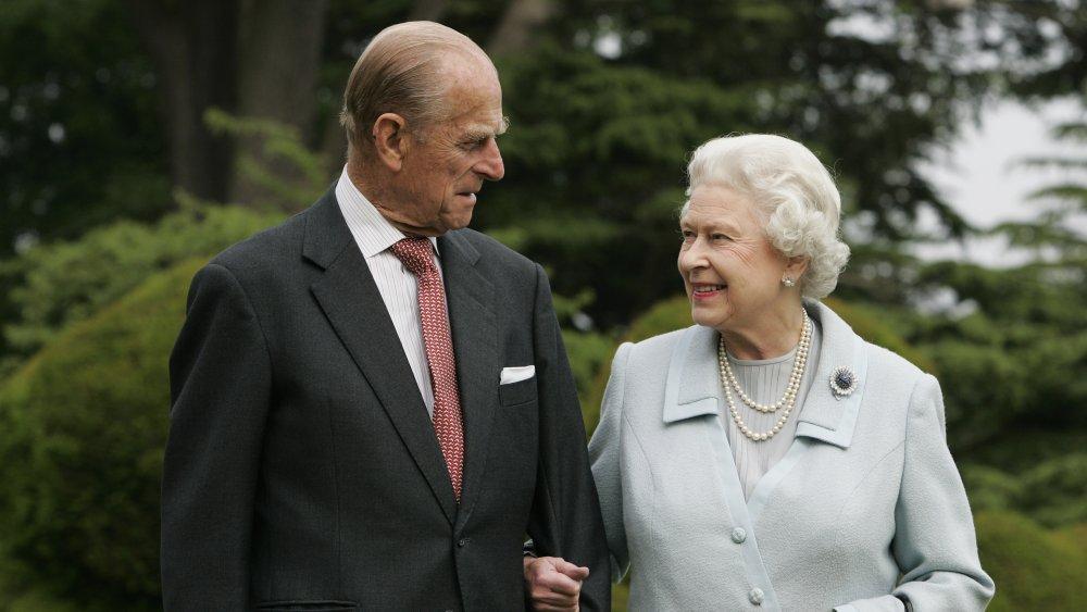 Queen Elizabeth and Prince Philip visit Broadlands to mark their Diamond Wedding Anniversary in 2007