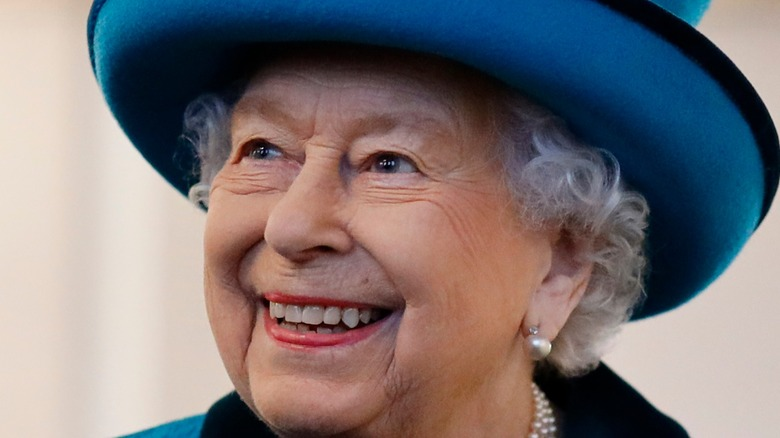 Queen Elizabeth visits the new headquarters of the Royal Philatelic society on November 26, 2019