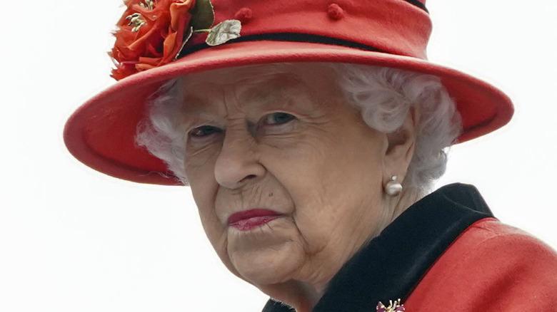 Queen Elizabeth II staring into the distance