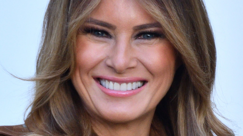 Melania Trump with wide smile