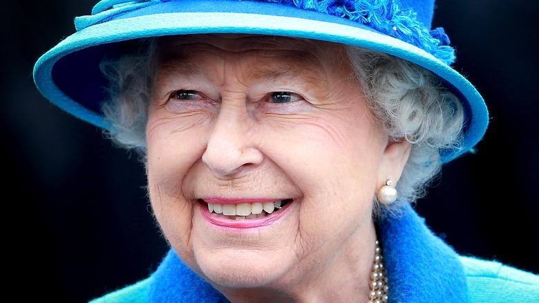 Queen Elizabeth, smiling