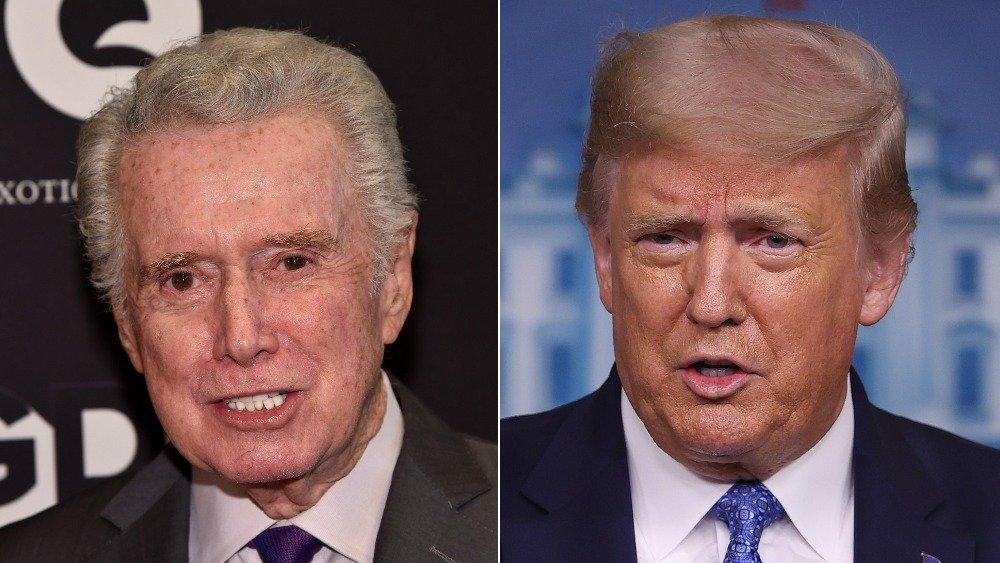 Regis Philbin and Donald Trump