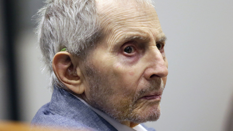 Robert Durst with serious expression in 2020