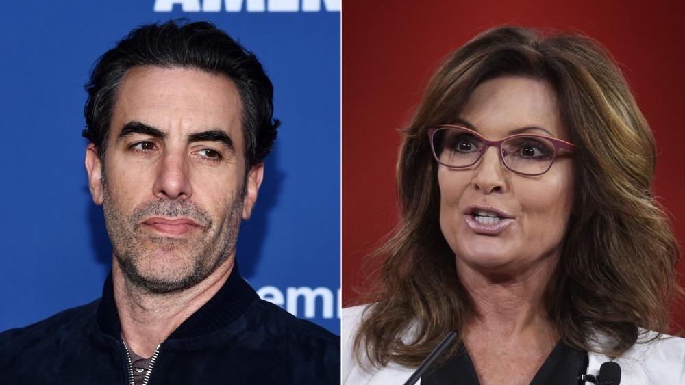 Sacha Baron Cohen, Sarah Palin