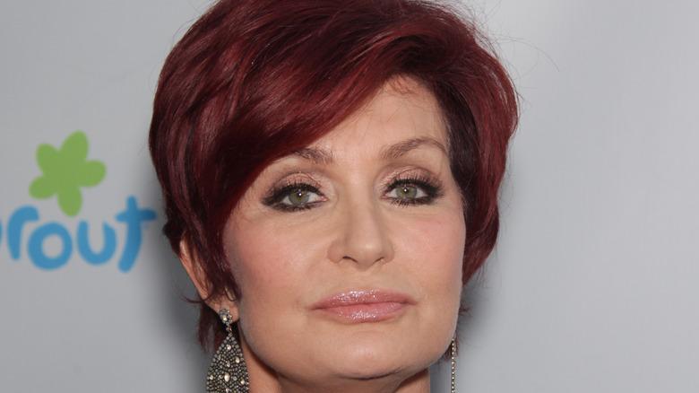 Sharon Osbourne with large earrings