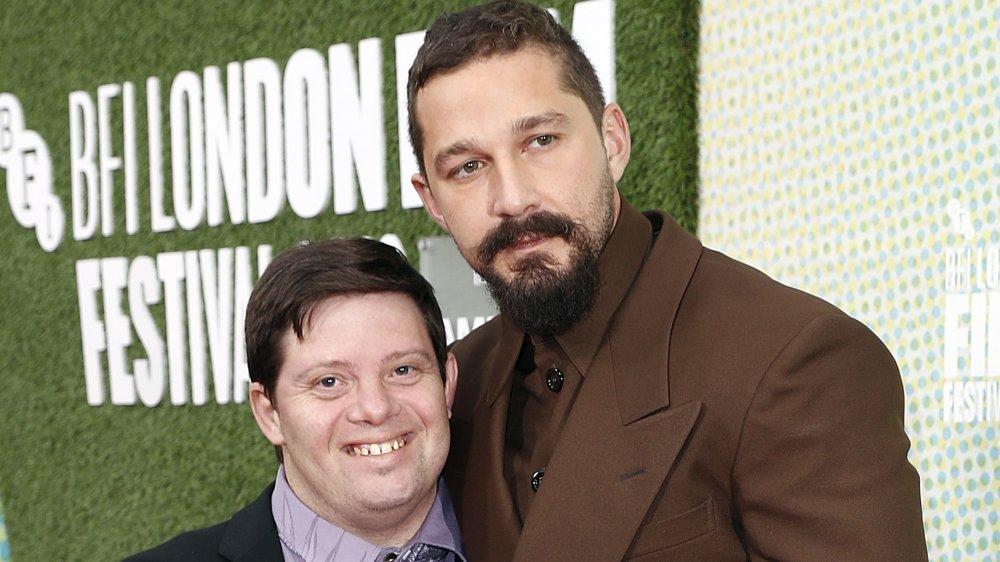 "Shia LaBeouf and Zack Gottsagen attend ""The Peanut Butter Falcon"" UK premiere"